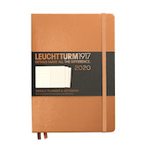 Leuchtturm1917 Diary Weekly Planner and Notebook 2020 Medium Copper
