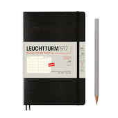 Leuchtturm1917 Monthly Planner & Notebook 2021 Softcover B6 Black