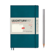 Leuchtturm1917 Monthly Planner & Notebook 2021 Softcover B6 Pacific Green