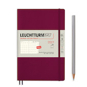Leuchtturm1917 Monthly Planner & Notebook 2021 Softcover B6 Port Red