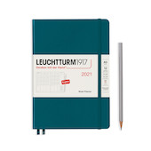 Leuchtturm1917 Week Planner 2021 Medium Pacific Green