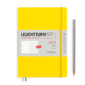 Leuchtturm1917 Weekly Planner & Notebook 2021 Softcover Medium Lemon