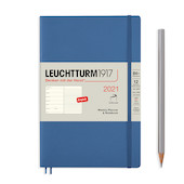 Leuchtturm1917 Weekly Planner & Notebook 2021 Softcover B6 Denim