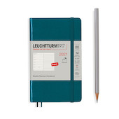 Leuchtturm1917 Weekly Planner & Notebook 2021 Softcover Pocket Pacific Green