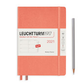 Leuchtturm1917 Weekly Planner 2021 Hardcover Medium Bellini