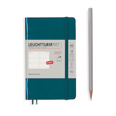 Leuchtturm1917 Weekly Planner 2021 Softcover Pocket Pacific Green