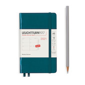 Leuchtturm1917 Weekly Planner 2021 Hardcover Pocket Pacific Green