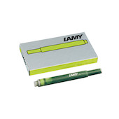 Lamy T10 Ink Cartridge Charged Green Special Edition