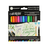 Manuscript Callicreative Aqua Brush Markers Set of 12