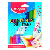 Maped Color'Peps Duo Stamp Pen Set of 8