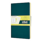 Moleskine Volant Journal Large Set of 2 Pine Green/Lemon Yellow