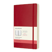 Moleskine Daily Diary 2020 Softcover Large Scarlet Red