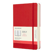 Moleskine Hardcover Large Daily 18 Month Diary 2020-2021 Scarlet Red