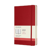 Moleskine Daily Diary 2021 Hardcover Large Scarlet Red