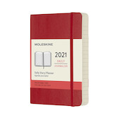 Moleskine Daily Diary 2021 Softcover Pocket Scarlet Red