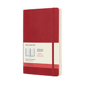 Moleskine Daily Diary 2021 Softcover Large Scarlet Red