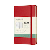 Moleskine Weekly Diary 2021 Hardcover Pocket Scarlet Red