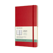 Moleskine Weekly Diary 2021 Hardcover Large Scarlet Red