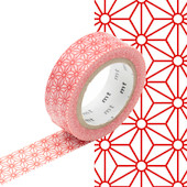 mt Washi Masking Tape - 15mm x 10m - Asanoha Shuaka