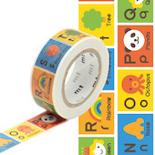 mt Washi Masking Tape for Kids - 15mm x 7m - Alphabet N-Z