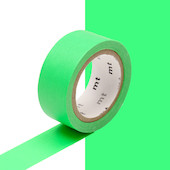 mt Washi Masking Tape 15mm x 5m Fluorescent Green