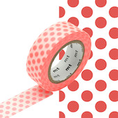 mt Washi Masking Tape 15mm x 10m Dot Shocking Red