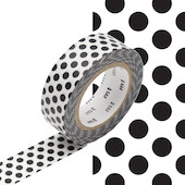 mt Washi Masking Tape 15mm x 10m Dot Black 2