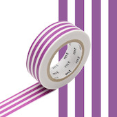 mt Washi Masking Tape 15mm x 10m Border Grape