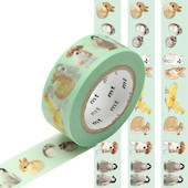 mt Washi Masking Tape 18mm x 10m Baby Animals