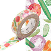 mt Washi Masking Tape 15mm x 10m Summer Vegetable
