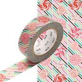 mt Washi Masking Tape 15mm x 10m Candy