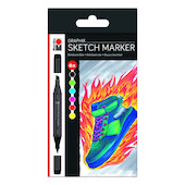 Marabu Graphix Sketch Marker Set of 6 Heat