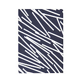 Ola Layflat Notebook A5 Lines Print Navy Ruled