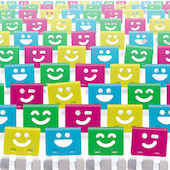 OHTO Smile Slide Clips Assorted Bag of 100