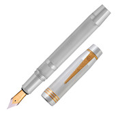 Onoto Magna Classic 18ct Gold Nib Fountain Pen Sterling Silver Limited Edition