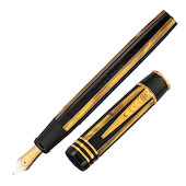 Onoto Shakespeare 18ct Gold Nib Fountain Pen Pinstripe Limited Edition