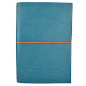 Paper Republic Grand Voyageur Leather Notebook (XL) Petrol Blue