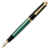 Pelikan Souveran M800 Fountain Pen Black / Green