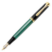 Pelikan Souveran M300 Fountain Pen Black and Green