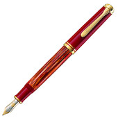 Pelikan Souveran M600 Fountain Pen Tortoiseshell Red Special Edition