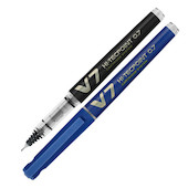 Pilot V7 Cartridge System Refillable Rollerball Pen with 3 FREE REFILLS
