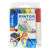 Pilot Pintor Marker Pen Bullet Tip Fine Assorted Set of 6