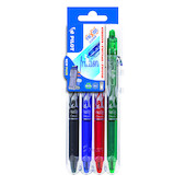 Pilot FriXion Clicker Erasable Rollerball Pen 07 Medium Assorted Set of 4