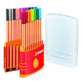 STABILO point 88 Fineliner Pen Colourparade Set of 20