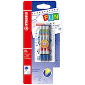 STABILO Fun Rollerball Pen Refill Set of 3