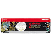 STABILO Pen 68 Metallic Assorted Tin of 6