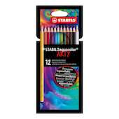 STABILO ARTY aquacolor Colouring Pencil Wallet of 12