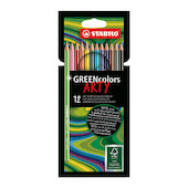 STABILO ARTY GREENcolors Colouring Pencil Wallet of 12
