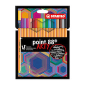 STABILO ARTY Point 88 Fineliner Pen Wallet of 18