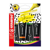 STABILO Shine Highlighter Assorted Set of 4